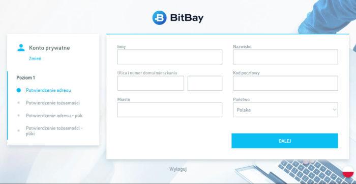 Weryfikacja na giełdzie BitBay