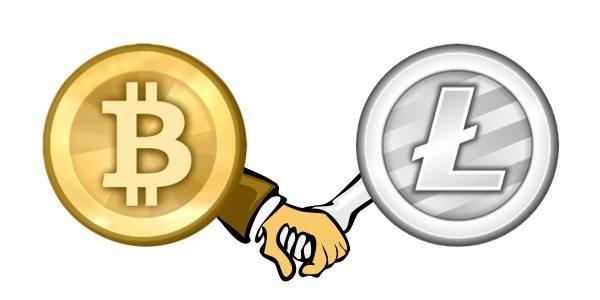 litecoin-bitcoin-hand