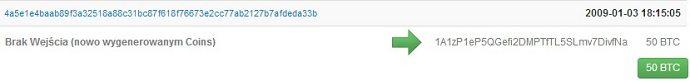 Pierwsze Bitcoiny znajdują się pod adresem 12c6DSiU4Rq3P4ZxziKxzrL5LmMBrzjrJX