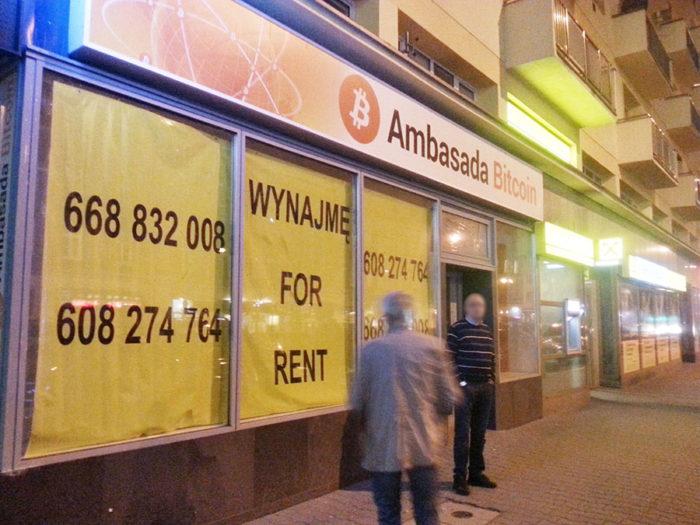 Ambasada Bitcoin Zamknięta