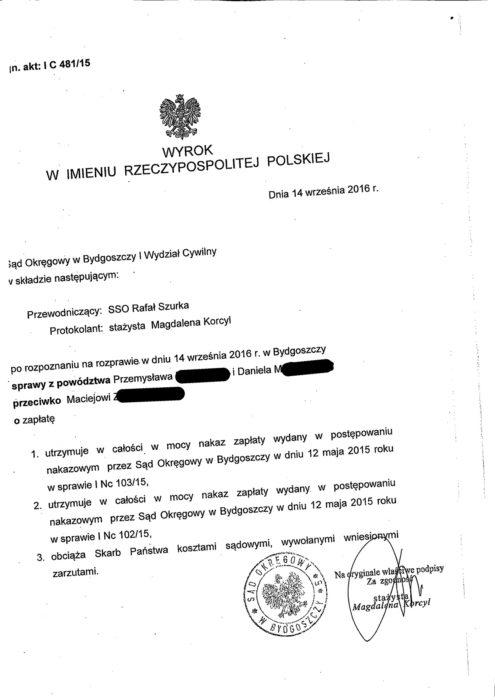 Wyrok Macieja Z