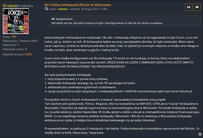 Polskie Forum Bitcoin - Ambasada