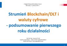 Podsumowanie prac strumienia blockchain/dlt i waluty cyfrowe1