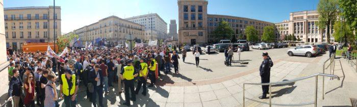 panorama z protestu